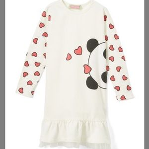 🆕NWT Sophie & Sam Cream Panda Love Dress